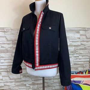 Very interesting and stylish jean jacket